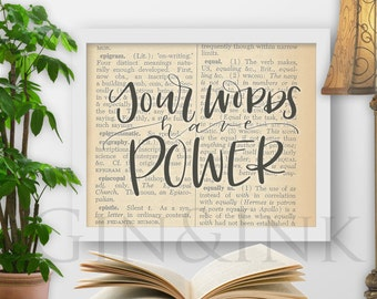 "Words Have Power - 8x10"" Printable"