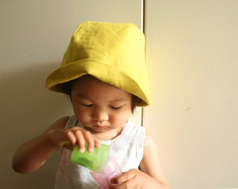 SUMMER HAT / linen hat / toddler / children / girl / boy / unisex / linen beanie / linen cloche / baby hats / made in australia / pamelatang