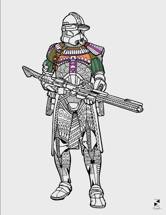 Star Wars Coloring Pages Stormtrooper Printable Adult