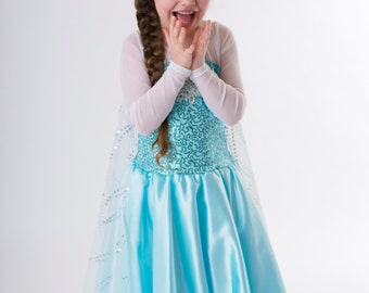 Frozen costume Elsa inspired costume 2T satin skirt style