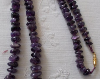 Amethyst Quartz Necklace. (300)