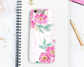 Pink iPhone case, iPhone X case, Peonies phone case, iPhone 8 plus, Phone case with flowers, Galaxy S7, Galaxy s8 case, phone case iPhone 6,