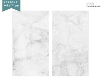 Notepaper Filofax - marble - 25 Sheets - Personal