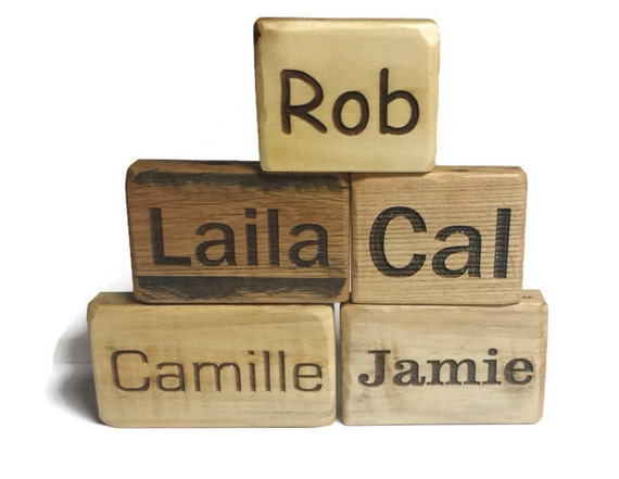 Wooden Blocks Baby Blocks Personalized Name Signs Custom