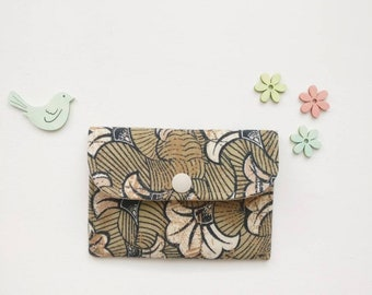 Upcycled business card case, card wallet, Upcycled card wallet, card holder, credit card case, fabric business card case