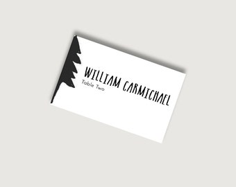 No. 11   Printable 4 x 2.5 Place Card