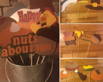 Thanksgiving Photo Booth Props - Set of 11