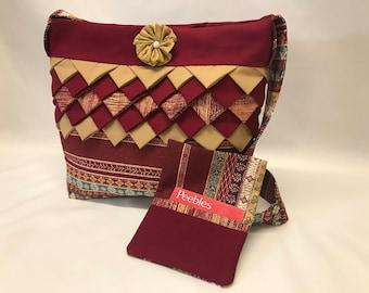 Eastern Feeling Prairie Point Fabric Purse & Wallet