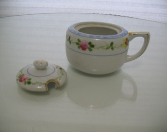 Antique Hand Painted Nippon Mustard Pot