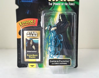 Star Wars Action Figure Toy Emperor Palpatine Return of the Jedi, Star Wars Gift for Men, Sith Lord Force Lightning Kids Toy