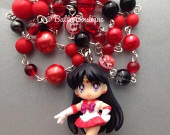 Sailor Mars // Sailor Moon // Beaded Necklace // Inner Senshi