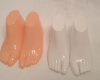 Plastic Forms Child NEW Size Sandals Display Shoes, Barefoot Sandals, Thong Style Sandals, Feet form  Display Skin Toned or White