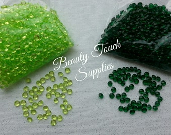 1000pcs per bag of Apple Green and Lime Green Diamonds