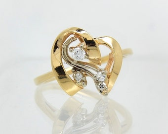 14K VIntage Diamond RIng - X4396