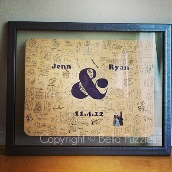 200 pc Wedding Guest Book Puzzle guestbook alternative