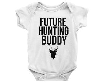 Future Hunting Buddy Onesie, Future Hunting Buddy Bodysuit, Daddy's Hubting Buddy Onesie, Funny Onesie, Baby Shower Gift for Hunter Dad
