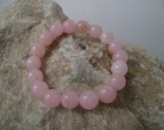 Rose Quartz bracelet 10 mm #005