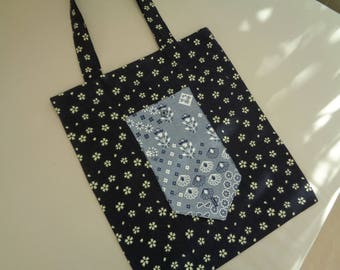 Tote foldable bag to handbag