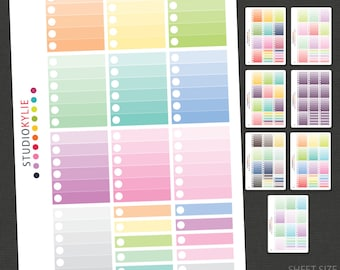 Ombre Check List Planner Stickers  -  Suits  Erin Condren  Vertical Planners - Repositionable Matte Vinyl