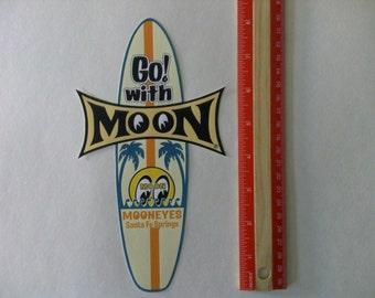 Mooneyes surfboard vintage  style racing Large decal sticker