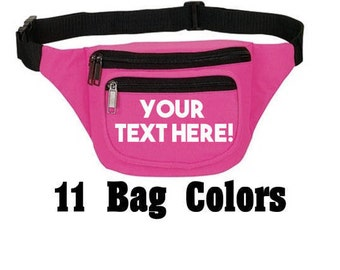 Customizable Fanny Packs // Team Fanny Packs // Custom Fanny Packs