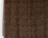 Brown taupe black paisley...