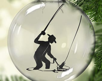 Fly Fishing Christmas Ornament - Personalized Christmas Ornament - Guy Christmas Ornament - Fishing Ornament - Fishing Christmas Ornament