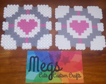 Perler Bead Art - Portal Companion Cube