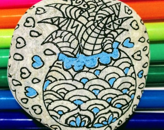 Mandala Rock Painting Kit, Pebble Art, Coloring Kits, Rock Crafts, Zentangle Stone, Hand Painted Stone, Yoga Gift, Mandala Art Gifts