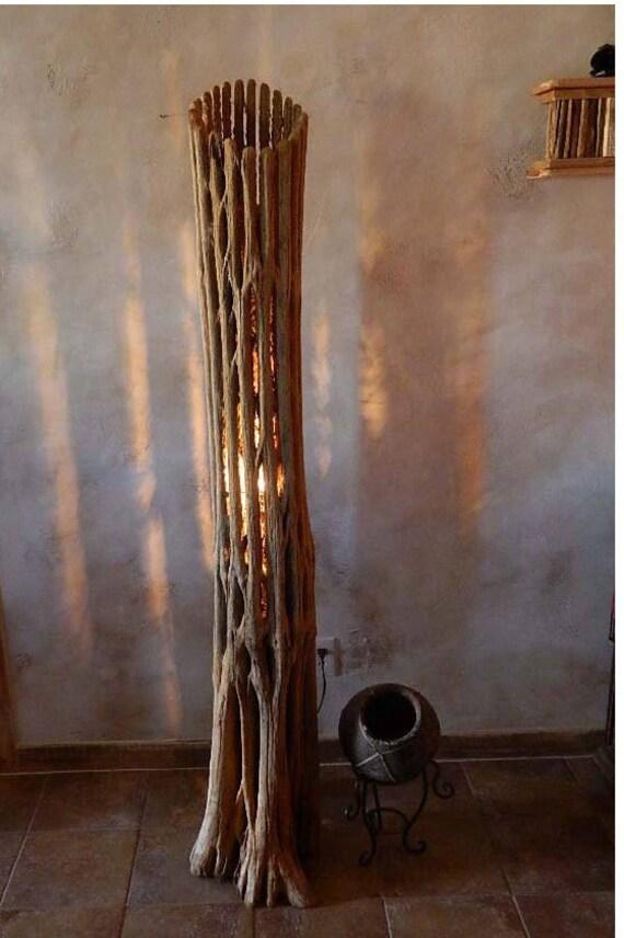Home Decor Floor Lamp Southwestern Saguaro Cactus Rib Trunk