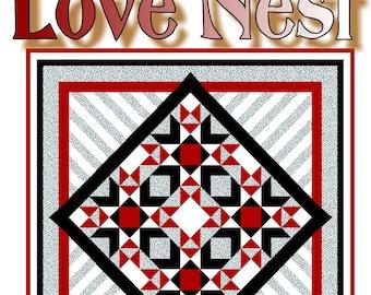 LOVE NEST - Quilt-Addicts Patchwork Quilt Pattern