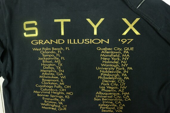STYX Illusion XXL T Rock Pop Wear Vintage Band Rock Street Rock Shirt 97 Grad Classic Concert Hard shirt Size Band Rock And Tour dwxq4gSIxC