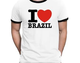 I Love Brazil Ringer T-Shirt