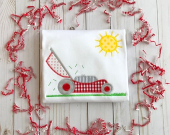 Lawn Mower Applique Shirt