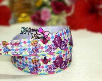 "Disney Princess  Cinderella  7/8""Grosgrain Ribbon ,7/8"" Princess ribbon,Disney Princess Ribbon"