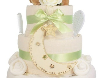 Luxury Guess How Much I Love You LIttle Nutbrown Hare Newborn Nappy Cake Gift - FREE Delivery