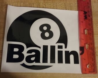 Decal, Sticker, Large  8-Ball Sticker/Decal