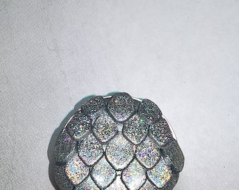 Silver Holographic Dragon Mermaid Scales Polymer Drawer Cabinet Knobs Pulls