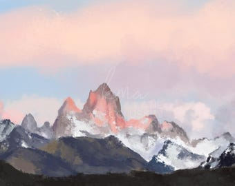 Pink Mountains Digital Download
