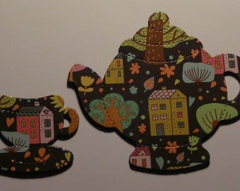TEAPOT and TEACUP Magnets - Made from Recycled CARDBOARD - Not  Soda Can