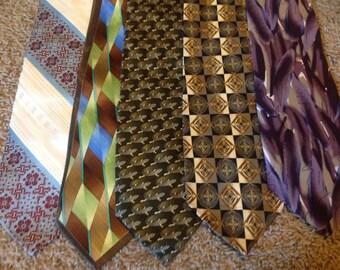 Lot of Five Long Neck Ties