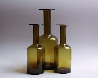 Set of 3 Gulv Vases  - Otto Brauer for Holmegaard