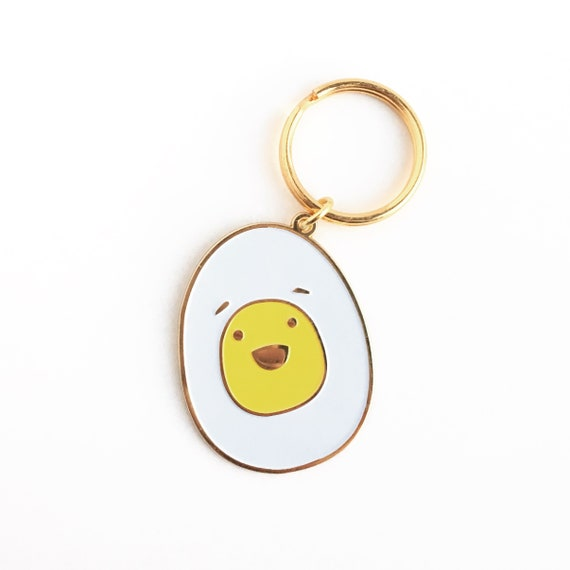 NEW! Hard Boiled Egg Soft Enamel Keychain
