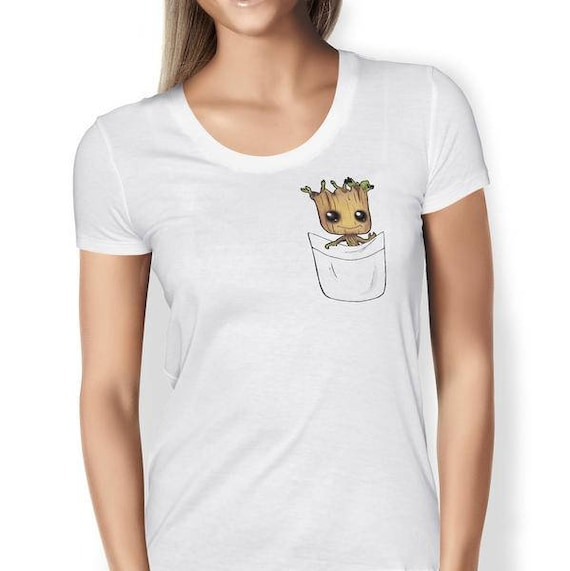 Baby Groot Pocket T Shirt Free Uk Delivery