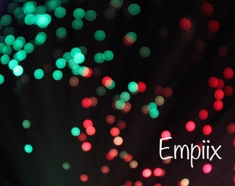 Close Up Macro Bokeh Green-Red Lights Photograph (A3,A4,A5,) by Empiix