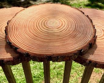 "12"" Set of 10! Wood Slices! Wedding centerpieces! Wood centerpieces, wood slabs, wood chargers, centerpiece wood slab, rustic wedding decor!"