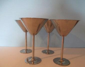 Stolichnaya Elit Vodka Glasses, Stainless Steel Martini Glasses, Elit Vodka Glasses, Stainless Barware, Martini Glasses