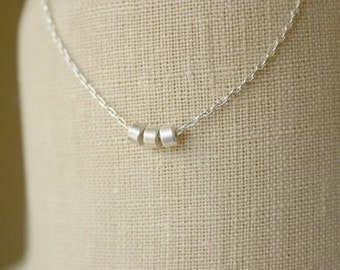 Dainty Thin Necklace/ Necklace Tiny Beads/Minimal Necklace/Delicate Necklace/Layering Necklace/Gift For Women/Dainty Necklace/Thin Necklace