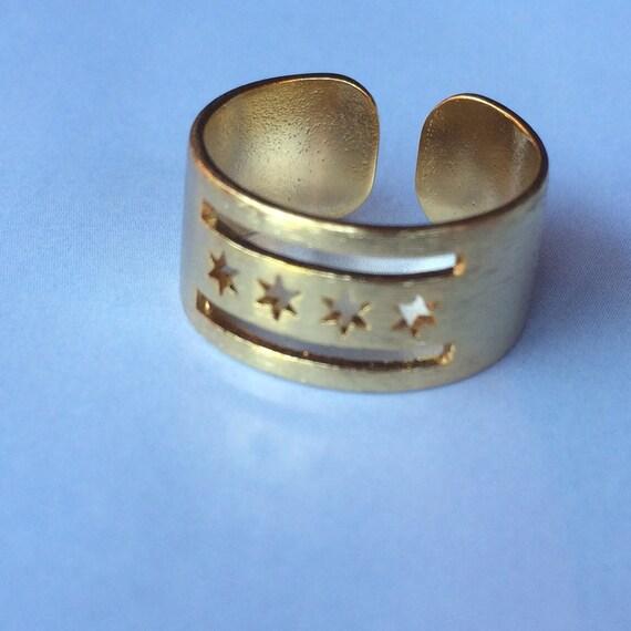 Rose Gold Chicago Flag Ring
