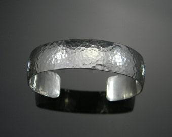 Sterling Silver Cuff Bracelet, Silver Cuff, Hammered Bracelet, Hammered Cuff Bracelet, Heavy Silver Bracelet, Modern Silver Bracelet